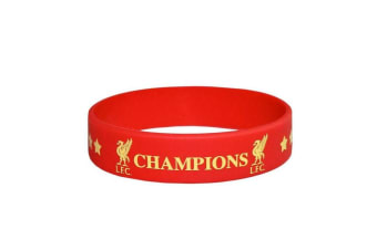 Liverpool FC Champions of Europe Single Wristband (Red)