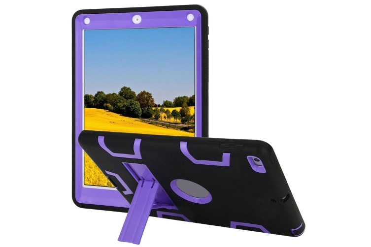 Kids Shockproof Case Heavy Duty Tough Kick Stand Cover For iPad Pro 9.7 Inch 2016-Type3-PurpleBlack