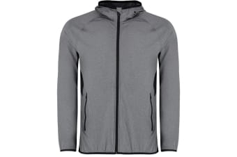 Gamegear Mens Fashion Fit Sports Jacket (Grey Melange/Black) (2XL)