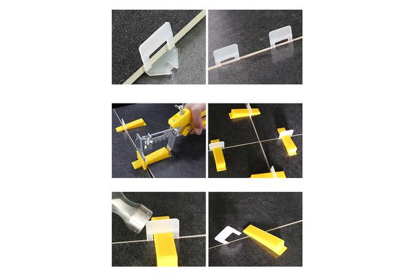 Tile Leveling Tiling Spacer Clips 2mm 1000pcs
