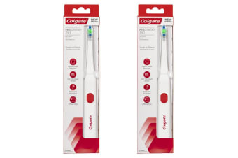 2PK Colgate Pro Clinical 150 Electric Toothbrush w/Soft Bristles Oral Care