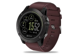 Select Mall Rugged Inside Out HR Monitor 3D UI All-day Activity Record 1.22Inch Smart Waterproof Watch-Red
