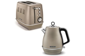Morphy Richards Evoke Stainless Steel 2 Slice Toaster & 1.5L Jug Kettle Platinum