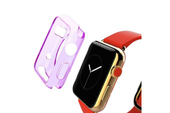 Purple For Apple Watch 1 2 3 4(40mm 38mm) Slim TPU Protective Case