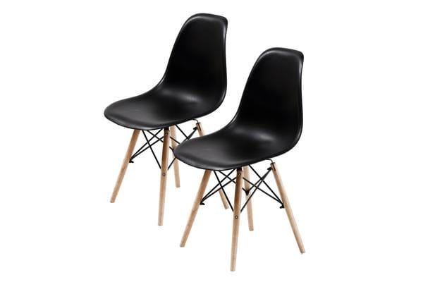 Replica Eames DSW Dining Chair - BLACK X2