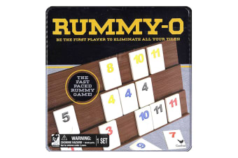Cardinal Classic Rummy O Board  Family Game w/ Tin Storage Kids/Children 5y+ Toy