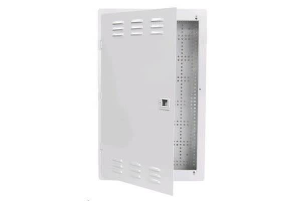 """Dynamix HWS-2004V2 20"""" Network Enclosure Recessed Wall Mount with Vented Lid Cable"""