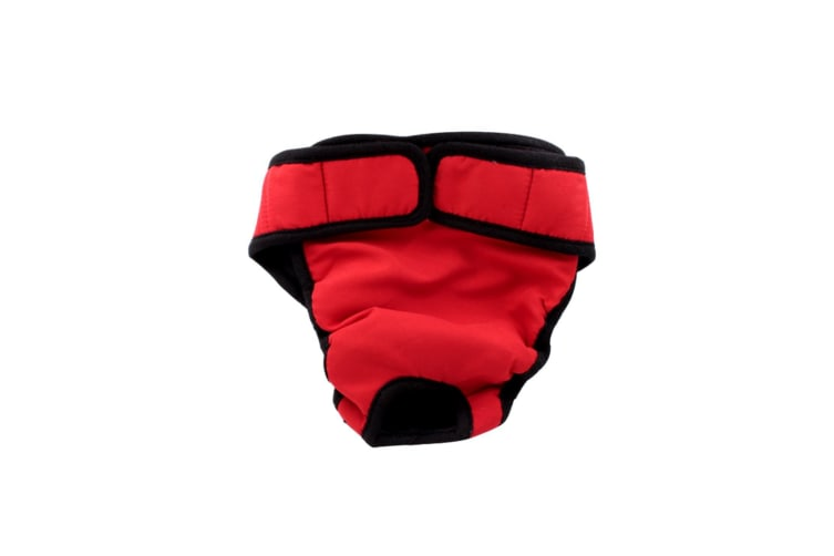 Female Dogs Cotton Blend Breathable Physiological Safety Menstrual Pants Red Xl