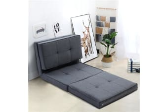 Floor Sofa Lounge Folding Chair Futon Couch Legless Seat Dark Grey
