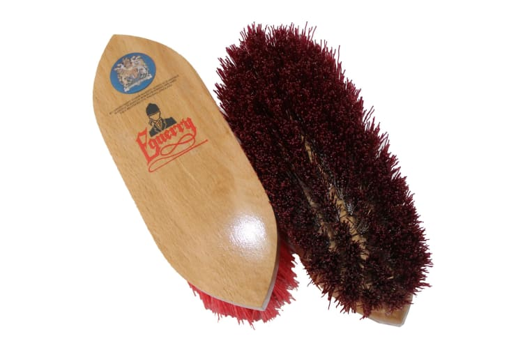 Equerry Dandy Brush (Claret) (Small)