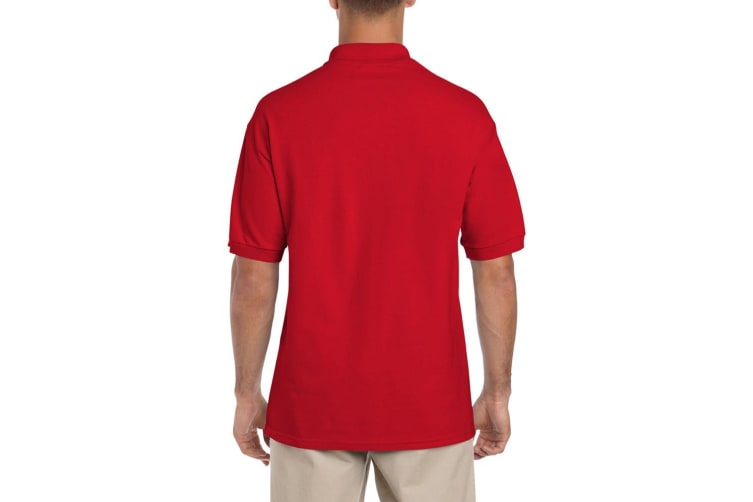 Gildan Mens Ultra Cotton Pique Polo Shirt (Red) (2XL)