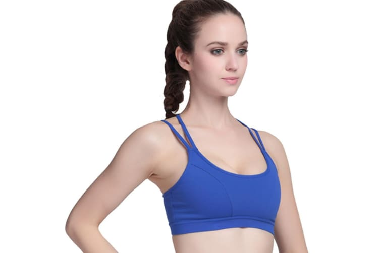 Women's Criss Cross Strappys Running Yoga Sports Bra S