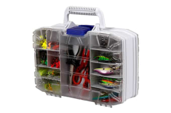 Flambeau 8321DS Double Sided Fishing Tackle Box - 13 Inch Clear Double Satchel