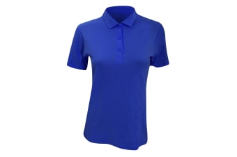 Anvil Womens/Ladies Double Pique Semi-Fitted Polo Shirt (Royal)