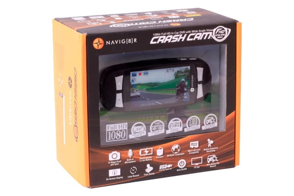 "Laser Navig8r Car Crash Camera FHD1080P 2.7"" LCD 30FPS Wide Angle (140 Degrees) + SanDisk 32GB Extreme microSDHC Card"