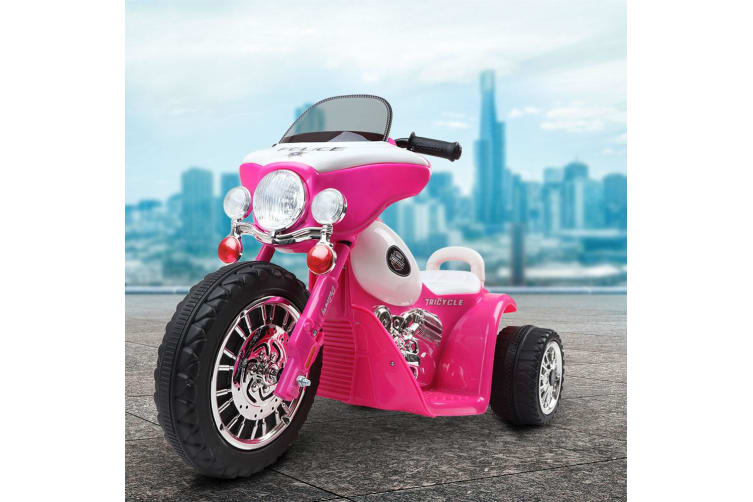 Kids Ride On Motorcycle Motorbike Car Harley Style Electric Toy Police