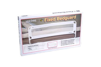 Vee Bee 105cm White Safety Cot/Bed Rail Guard Protection for Baby Infant Toddler
