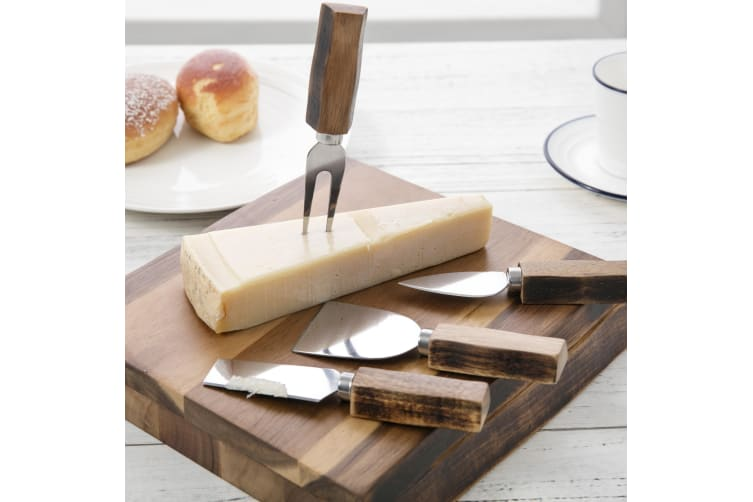 Sherwood 4 Piece Cheese Knife Set With Acacia Board