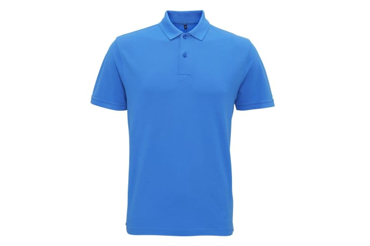 Asquith & Fox Mens Coastal Vintage Wash Polo (Palace Blue) (XL)