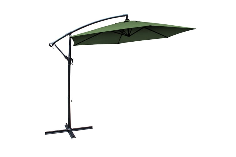 Milano 3 Metre Cantilever Outdoor Umbrella with Bonus Protective Cover (Green)