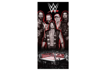 WWE Wrestling Ring Towel (Black/White/Red) (One Size)
