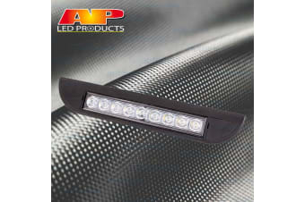 AP AUTO BLACK EXTERIOR LAMP OUTSIDE LIGHT AWNING ANNEX 12V VOLT CARAVAN 9 LED