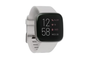 Fitbit Versa 2 Smart Fitness Watch (Stone, Mist Grey Aluminium)