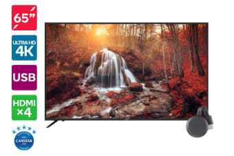 "Kogan 65"" 4K LED TV (Series 8 KU8000) + Chromecast 3"