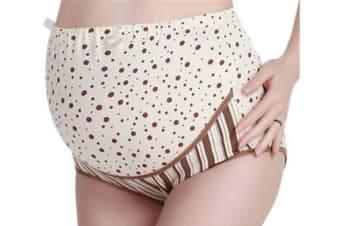 3 Pack Of Pregnant Women Support Panties Briefs Maternity Pregnancy Knickers Underwear Plus Size Coffee 2Xl