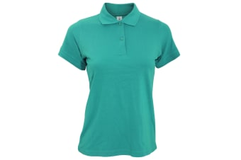 B&C Safran Pure Ladies Short Sleeve Polo Shirt (Real Turquoise)
