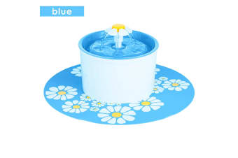 Automatic Electric Pet Water Fountain Dog/Cat Drinking Bowl Waterfall Drinkwell  -  BlueBlue