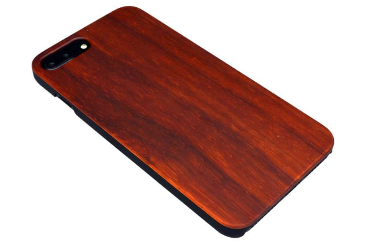 For iPhone 8 PLUS 7 PLUS Case Rosewood Smooth Elegant Durable Protective Cover