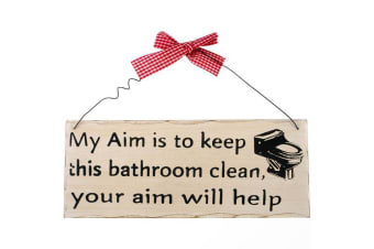 Something Different My Aim Hanging Sign (Multicoloured) (One Size)