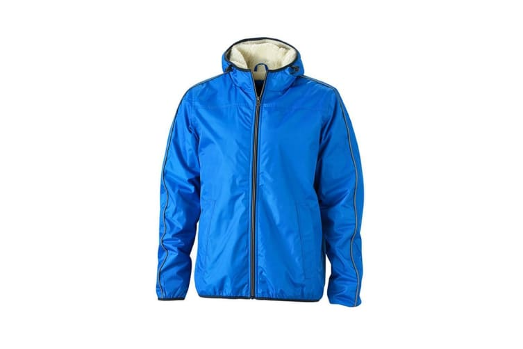 James and Nicholson Mens Winter Sports Jacket (Royal Blue/Off-White) (S)