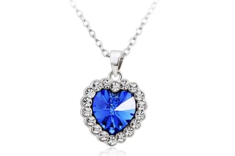 Queen Of Hearts Necklace Embellished with Swarovski crystals