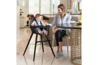 Bebecare Pod Timber High Chair Noir