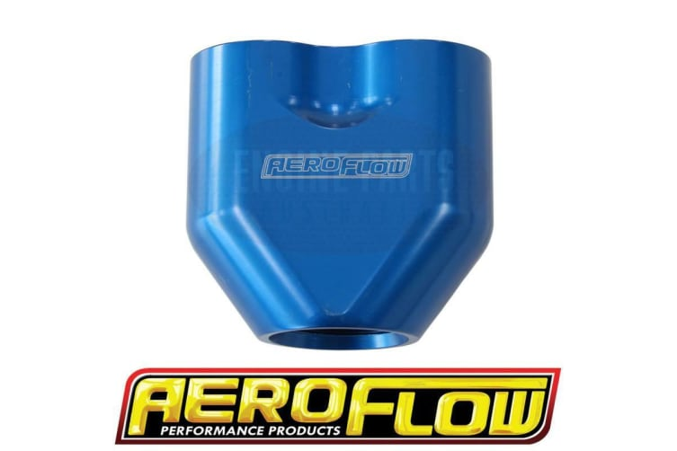 Aeroflow Aeroflow -10AN To 2X-8An Female Orb Y Block Blue Af 455-10-08