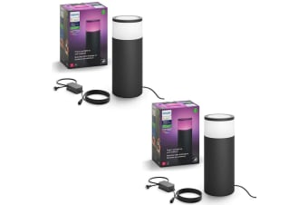 2PK Philips Hue Outdoor Pedestal Colour Ambiance Light/Lighting Extension Kit
