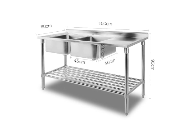 Stainless Steel Sink Bench 150X60