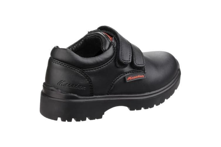 US Brass Childrens/Boys Alfie Twin Touch Fastening Shoes (Black) (10 UK)