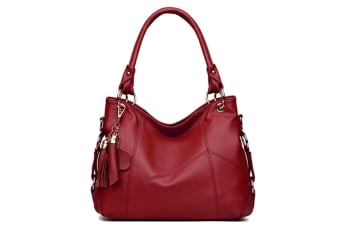 Arrival Leather Satchel Purses And Handbags Shoulder Tote Crossbody Bag Red