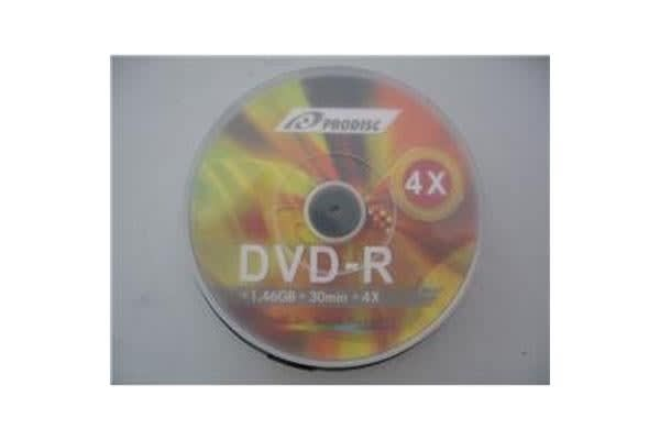 Prodisc 8cm Mini DVD-R 4X 1.4GB 100 pcs Cake Box BULK White Inkjet