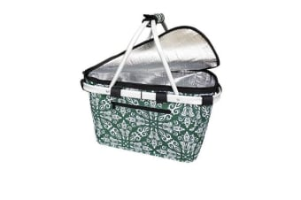 Shop & Go Insulated Carry Basket with Lid Bohemian Green