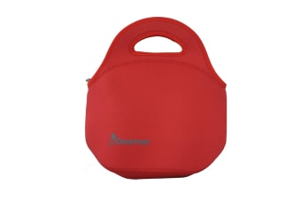 Go Gourment Lunch Tote Food Storage Container Insulated Neoprene Red