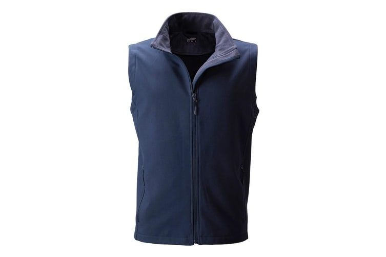 James and Nicholson Mens Promo Softshell Vest (Navy/Navy) (XL)
