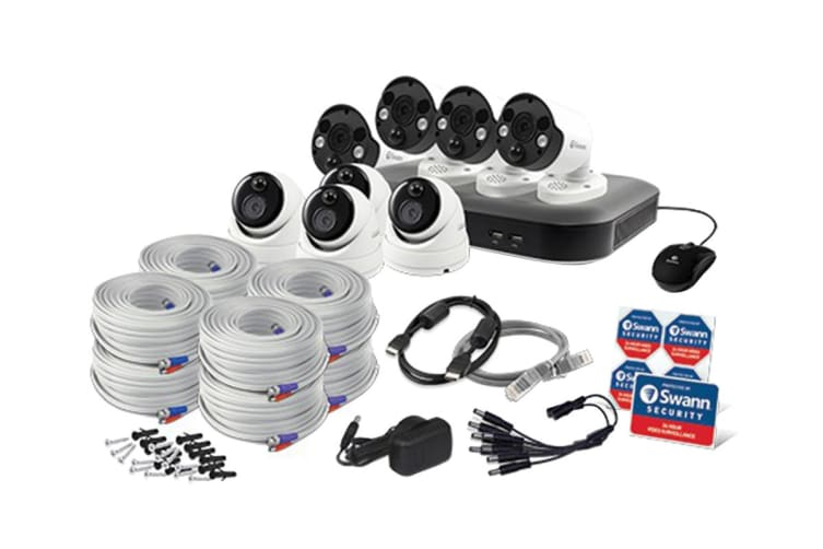 Swann 8 Channel 5MP with 8 x Camera Super HD DVR Security System (SWDVK-85MP4D4FB-AU)