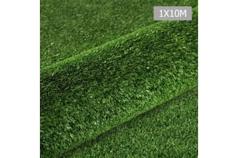 Artificial Grass 10 SQM Polyethylene Lawn Flooring 1X10M ((Olive) Green)