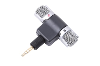 Mini 3.5mm Jack Microphone Stereo Condenser Microphone For Mobile Phone Voice Recording Internet Chatting