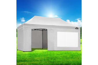 Pop Up Gazebo 3x6m Folding Marquee Tent Wedding Gazebos White