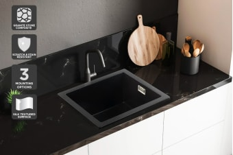 Kromo Granite Stone 450 x 400mm Kitchen Sink (Drop-in/Flush/Undermount)